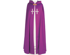 A cape with the cross hand embroidered
