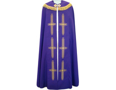 Cape of polyester in the four liturgical colors purple