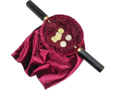 Beggar with double handle and velvet pouch