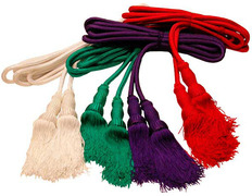 Cincture in the four liturgical colors rojo