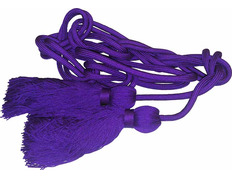 Cincture in polyester purple