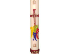 Paschal Candle 2019 - Embossed Cross