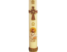 Paschal candle 2019 - Relief Lamb and Crismón