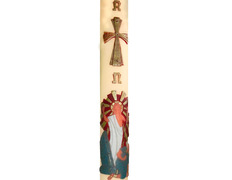 Paschal candle 2019| Embossed the risen jesus Christ