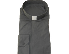 Shirt quality extra with neck strip, charcoal gray