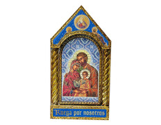 Box icon byzantine of the Holy Family