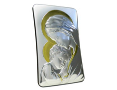 Icon silver 13 cm - Virgin Mary with Child