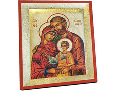 Icon byzantine Holy Family | 13 x 10.5 cm