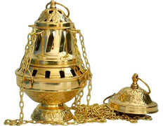 Censer of gold metal with four strings