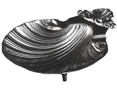 Shell baptismal metal nickel-plated