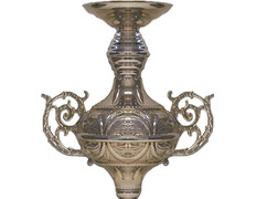 Set of two altar lights into to procession silver