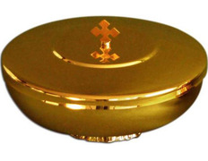 Chalice paten with base and lid - 14 cm diameter