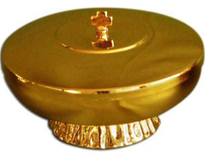 Chalice paten with base and cap - 12 cm diameter