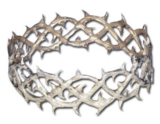 Crown of thorns in sterling silver