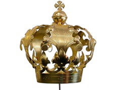 Imperial crown with Cross bathroom golden