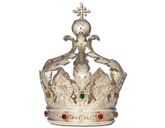 Crown of silver with stones embedded