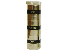 Chrism triple metal with silver finish