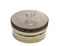 Chrism silver metal with screw cap