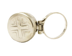 Chrism ring with Cross engraved
