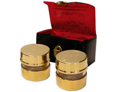 Crismeras gold with leather case