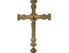 Cross parish made in bronze