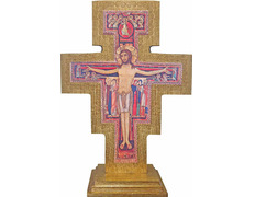 San Damiano cross, wooden table