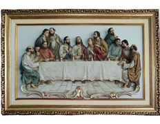 Picture of the Last Supper, with images in relief