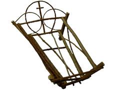 Cradle handmade wood baby Jesus