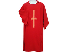 The dalmatic in the four liturgical colors with Cross purple