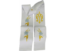 Stolon of polyester with badge mariana embroidered (AM)
