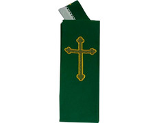Stole with Cross embroidered | Four colors green