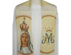 Stole marian Our Lady of Fatima embroidered