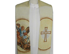Stole with embroidered St. Michael the Archangel