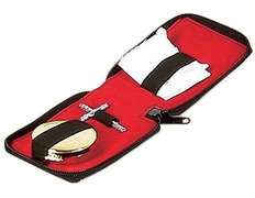 Portfolio of Sacraments with outer faux leather and inner red