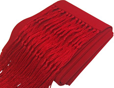Fascia sash with fringes red
