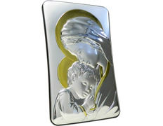 Icon silver 23.5 cm - Virgin Mary with Child
