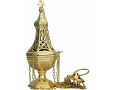 Censer of metal in gothic style