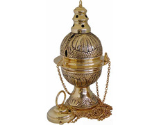 Censer with naveta and teaspoon made of cast gold