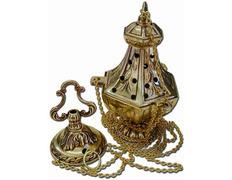 Bronze incense burner with circular base
