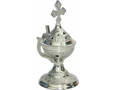 Censer domestic with handle and Cross silver