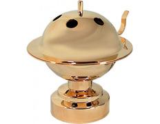 Censer domestic with lid dorado