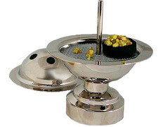 Censer domestic with lid silver