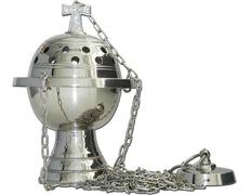 Censer, a small metal silver