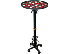 Lamp stand made of wrought iron for lamps