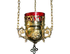 Lamp of the Blessed with wall sconce golden