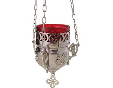 Lamp of the Blessed with wall sconce silver