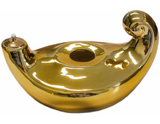Lamp porcelain with gold-plated
