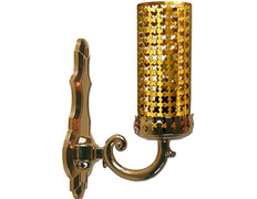 Lamp of the most Holy electric made in golden metal
