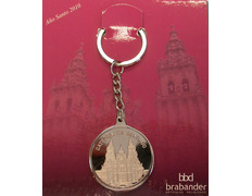 Keychain with silver bath - Cathedral of Santiago