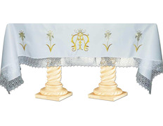 Tablecloth of altar with monogram mariano
